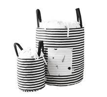 Košík pre deti Stromy Bamboo toT's smarTrike Black&White textilný, bambusový hodváb a satén 45*40 cm