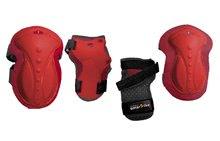 Echipament de protecţie pentru copii Safety Gear set Red M smarTrike pentru genunchi şi încheietură din plastic ergonomic roşu pentru vârsta de 9-15 ani