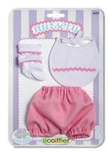 Šatôčky pre bábiku Clip Strip Nursery Écoiffier 32 cm modré/ružové