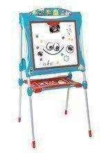 Tabule a lavice sety - Set školská tabuľa na hranie Smoby obojstranná magnetická s 59 doplnkami a taburetka KidStool modrá_0