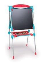Tabule a lavice sety - Set školská tabuľa na hranie Smoby obojstranná magnetická s 59 doplnkami a taburetka KidStool modrá_2
