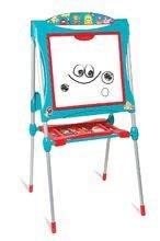 Tabule a lavice sety - Set školská tabuľa na hranie Smoby obojstranná magnetická s 59 doplnkami a taburetka KidStool modrá_4