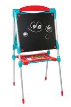 Tabule a lavice sety - Set školská tabuľa na hranie Smoby obojstranná magnetická s 59 doplnkami a taburetka KidStool modrá_8