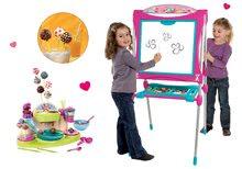Set tablă educativă Smoby roz şi bucătar jucăuş Cofetărie pentru prepararea acadelelor de ciocolată