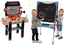 Set školní magnetická tabule Smoby výškově nastavitelná, vlněná zvířátka Pompoms: Kroužek šikovných rukou