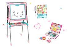 Set školní magnetická tabule Smoby výškově nastavitelná a kniha Princezny Magnetis'Book 48 magnetů