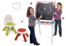 Set školní magnetická tabule Smoby výškově nastavitelná, 80 doplňků a židle KidChair a taburetka KidStool
