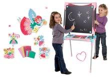 Set školská magnetická tabuľa Smoby výškovo nastaviteľná a rozprávkové omaľovánky: Moje kamarátky Víly