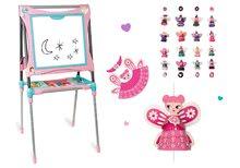 Set školní magnetická tabule Smoby výškově nastavitelná a girlandy: Princezny a čarodějnice 8 postaviček