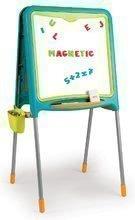Tablă magnetică pentru învăţat Activity Smoby cu două feţe cu 80 de accesorii 105 cm înalt albastru