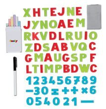 Školské tabule - Školská tabuľa na hranie Smoby magnetická, obojstranná s kovovou konštrukciou a 59 doplnkami zelená_2