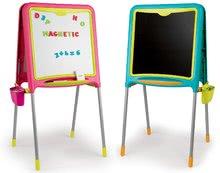 Školská tabuľa magnetická Activity Smoby obojstranná s 80 doplnkami 105 cm vysoká modrá/ružová  52*54*105 cm SM410305