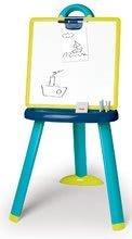 Tablă pentru învăţat cu două feţe Activity Smoby 2-in1 magnetică cu marker, cretă și 7 accesorii albastră