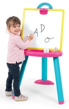 Tablă de învăţat cu două feţe Activity Smoby 2-in1 magnetică cu marker şi cu cretă+7 accesorii roz