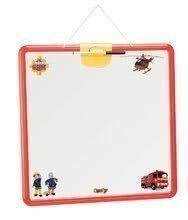 Školní tabule na hraní Požárník Sam Smoby magnetická, oboustranná na zavěšení s perem a 25 doplňky