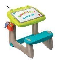 Hry na domácnosť - Set upratovací vozík s elektronickým vysávačom Vacuum Cleaner Smoby a lavica s obojstrannou tabuľou alekárskym kufríkom_3