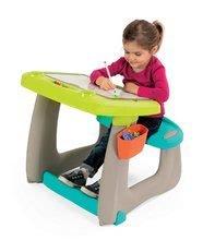 Hry na domácnosť - Set upratovací vozík s elektronickým vysávačom Vacuum Cleaner Smoby a lavica s obojstrannou tabuľou alekárskym kufríkom_13