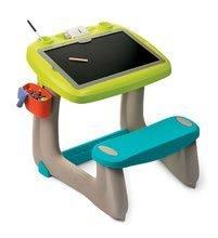 Hry na domácnosť - Set upratovací vozík s elektronickým vysávačom Vacuum Cleaner Smoby a lavica s obojstrannou tabuľou alekárskym kufríkom_5