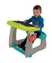 Hry na domácnosť - Set upratovací vozík s elektronickým vysávačom Vacuum Cleaner Smoby a lavica s obojstrannou tabuľou alekárskym kufríkom_14