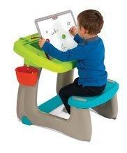 Hry na domácnosť - Set upratovací vozík s elektronickým vysávačom Vacuum Cleaner Smoby a lavica s obojstrannou tabuľou alekárskym kufríkom_15
