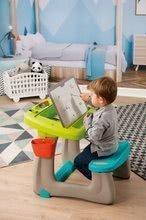Hry na domácnosť - Set upratovací vozík s elektronickým vysávačom Vacuum Cleaner Smoby a lavica s obojstrannou tabuľou alekárskym kufríkom_16