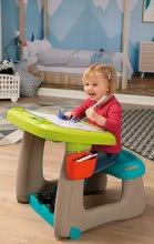 Hry na domácnosť - Set upratovací vozík s elektronickým vysávačom Vacuum Cleaner Smoby a lavica s obojstrannou tabuľou alekárskym kufríkom_18