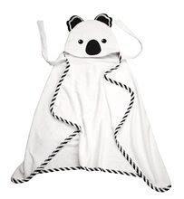 Prosop pentru cei mai mici Koala Bamboo toTs-smarTrike Black&White cu glugă din bambus fin și bumbac