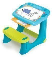 Smoby lavica na kreslenie Magic Desk Kresli a zmaž modrá s odkladacím priestorom a doplnkami 420218