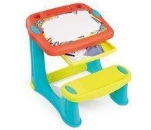 Školské lavice - Lavica na kreslenie Magic Desk Smoby Kresli a zmaž so 4 odkladacími priestormi a 12 doplnkami od 24 mes_1