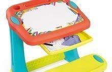 Školské lavice - Lavica na kreslenie Magic Desk Smoby Kresli a zmaž so 4 odkladacími priestormi a 12 doplnkami od 24 mes_2