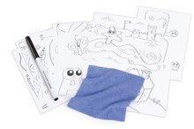Školské lavice - Lavica na kreslenie Magic Desk Smoby Kresli a zmaž so 4 odkladacími priestormi a 12 doplnkami od 24 mes_3