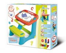 Školské lavice - Lavica na kreslenie Magic Desk Smoby Kresli a zmaž so 4 odkladacími priestormi a 12 doplnkami od 24 mes_5