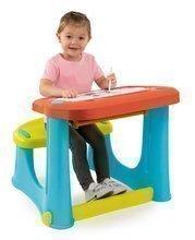 Školské lavice - Lavica na kreslenie Magic Desk Smoby Kresli a zmaž so 4 odkladacími priestormi a 12 doplnkami od 24 mes_0