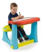 Školské lavice - Lavica na kreslenie Magic Desk Smoby Kresli a zmaž so 4 odkladacími priestormi a 12 doplnkami od 24 mes_4