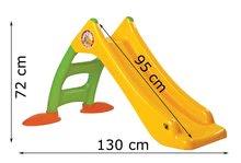 Skluzavky pro děti - Skluzavka Dohány délka 95 cm žlutá od 24 měsíců_1