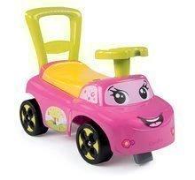 Dětská chodítka - Odrážedlo a chodítko Auto Fille 2v1 Smoby růžové od 10 měsíců_4