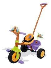 Tricikel Medvedek Pu Smoby vijolično-rjav od 15 mes
