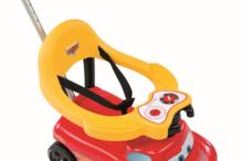 Staré položky - Odrážadlo a chodítko Auto 2v1 Autá Smoby červené od 6 mes_11