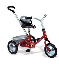 Tricikel na verižni pogon Zooky Classic Smoby kovinski rdeč od 16 mes