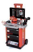 Sety autíčka - Set trenažér V8 Driver Smoby elektronický so zvukom a svetlom a pracovný vozík Autá s autom McQueen_4