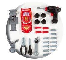 Otroška delavnica - Delovni voziček Avtomobili Smoby z mehanskim vrtalnikom, avtomobilom McQueen in 27 dodatki_2