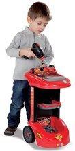 Otroška delavnica - Delovni voziček Avtomobili Smoby z mehanskim vrtalnikom, avtomobilom McQueen in 27 dodatki_7