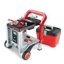 Delovni voziček Black&Decker Devil Workmate 3v1 Smoby in kovček z orodjem Tooly