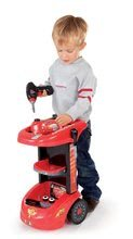 Otroška delavnica - Delovni voziček Avtomobili Smoby z mehanskim vrtalnikom, avtomobilom McQueen in 27 dodatki_4