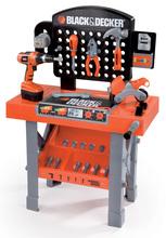 SMOBY 500205 Black and Decker SUPER ETABLI pracovný stol s mechanickou vrtackou a motorkou + 15 doplnkov, 50*26*75 cm