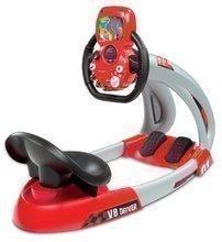 Simulator electronic de maşină de curse V8 Driver Smoby cu sunet