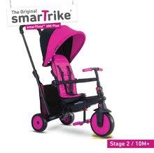 Tříkolka skládací smarTfold 6v1 smarTrike 300 Plus TouchSteering s EVA kolečky růžová