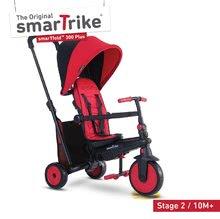 Tříkolka skládací smarTfold 6v1 smarTrike 300 Plus TouchSteering s EVA kolečky červená