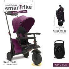 Tricicletă pliabilă smarTfold 7in1 smarTrike 500 TouchSteering căptuşită cu roţi EVA mov de la 9 luni