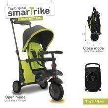 Dětská tříkolka skládací smarTfold 7v1 smarTrike 500 TouchSteering polstrovaná s EVA kolečky od 9 měsíců zelená
